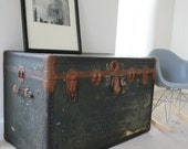 SALE Coffee Table Steamer Trunk Very Large Cavalier Ready to Ship.