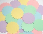 BULK SALE Pastel 2 Inch Scallop Circle Cardstock Punches 100pcs