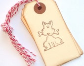 ONE DOLLAR SALE Give a Dog a Bone Handstamped Tags