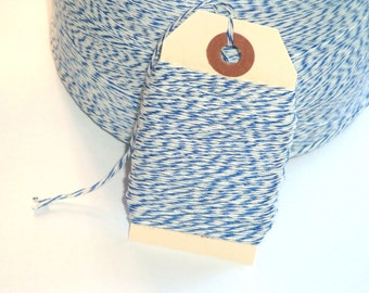 BULK SALE Dark Blue and White Bakers Twine 100 Yards