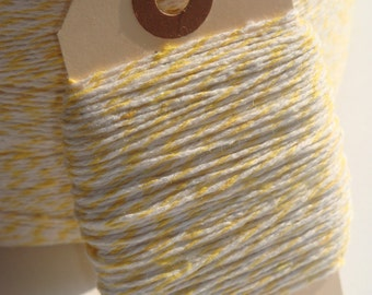 ONE DOLLAR SALE 25 Yards of Yellow and White Bakers Twine