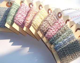 Bulk Sale 250 Yards of Assorted Baker's Twine // Sampler // 10 Available Colors