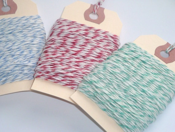 Bakers Twine Assorted Set 75 yards or Your Choice of Color