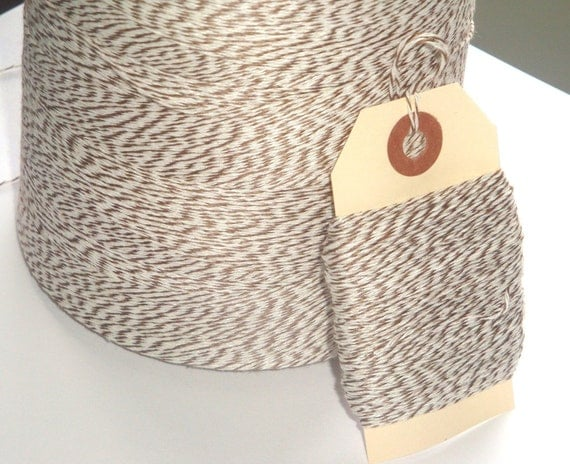Reserved listing Light Brown and White Bakers Twine 150 yards