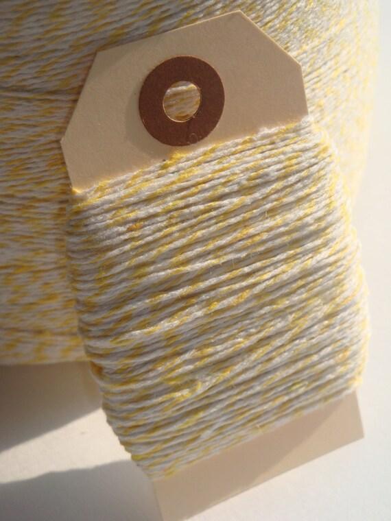 BULK SALE 100 Yards of Lemon Yellow and White Bakers Twine