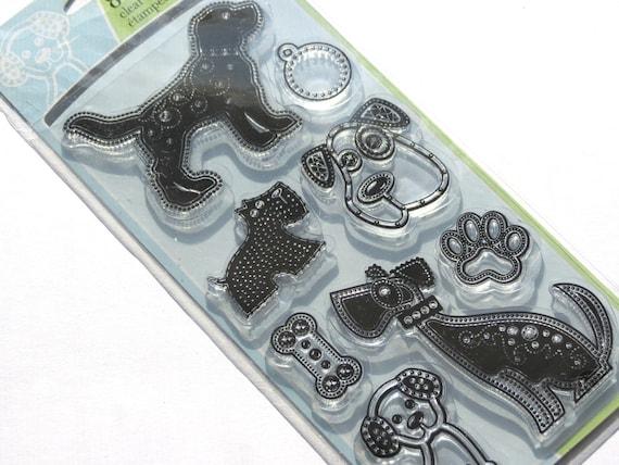 Gem Stone Dogs Clear Stamp Set from Inkadinkado // Brand New