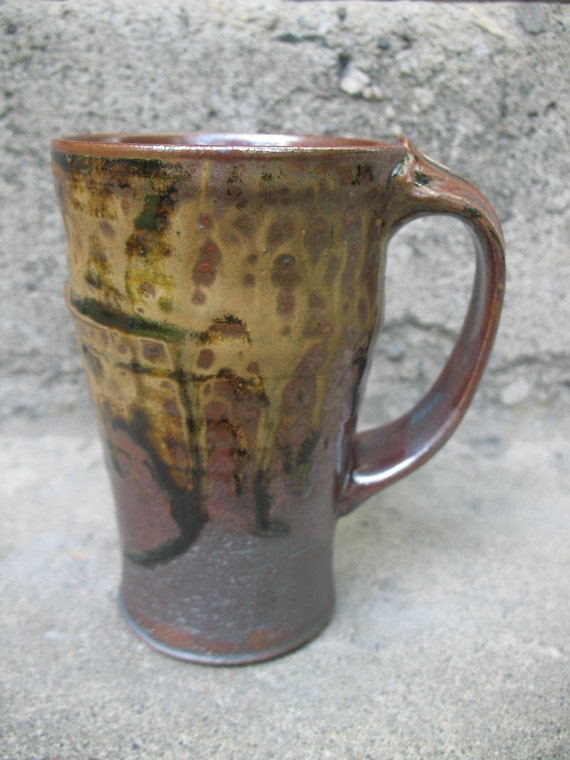 Tenmoku Stoneware Mug, travel, commuter