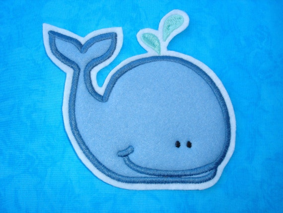 Applique patch - whale