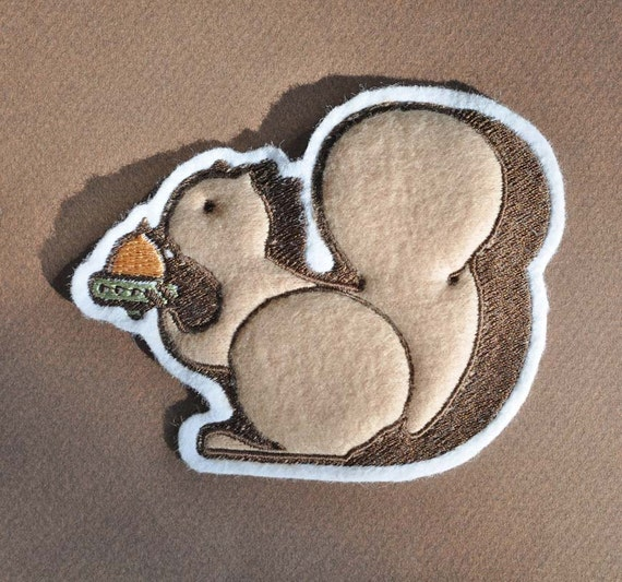 Applique patch - squirrel