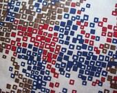 vintage fabric quirky retro squares