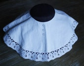 vintage wide CHILD'S COLLAR with lace & buttons