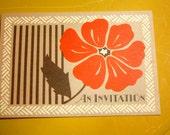 Vintage Poppy Invitations