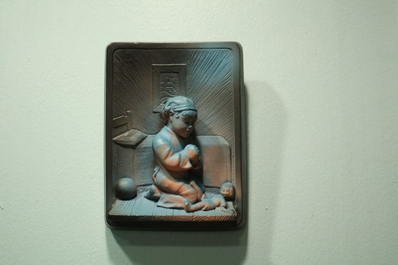 1964 chalkware bedtime girl by VICTOR & Creative Arts