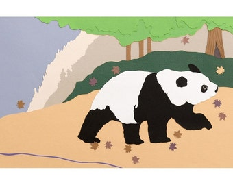 Panda Walking Print