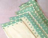 Green Polka Dot Linen Napkins