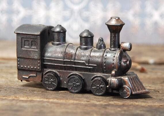 Minature Iron Die Cast Locomotive Train Pencil Sharpener
