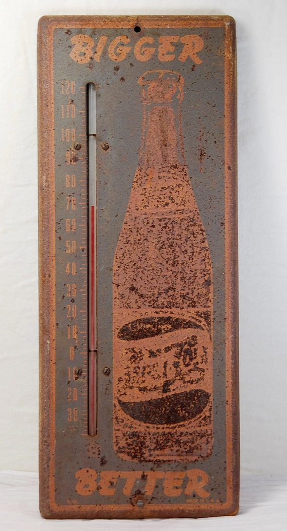 Antique Pepsi Promotional Wall Thermometer