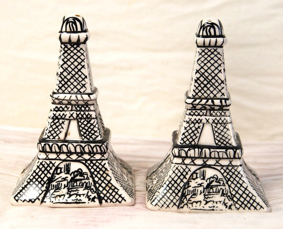 Eiffel Tower Parisian Salt and Pepper Shakers