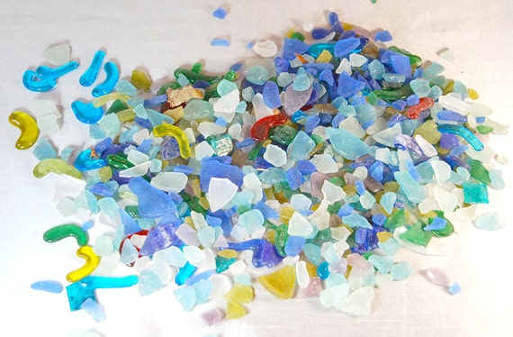 Sea Glass Pieces and Other Glass - 3lbs