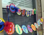 Customized Sesame Street Banner