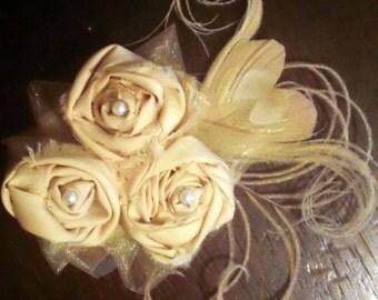 Vintage Roses Wedding Hair Clip