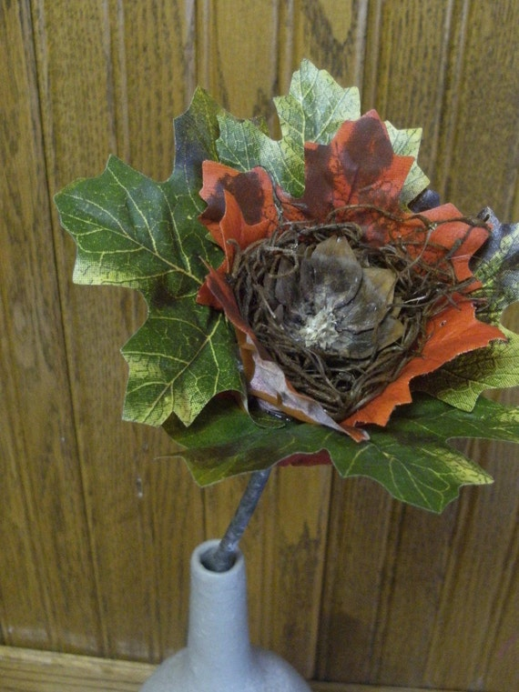 One-of-a-kind Autumn Leaf Flower