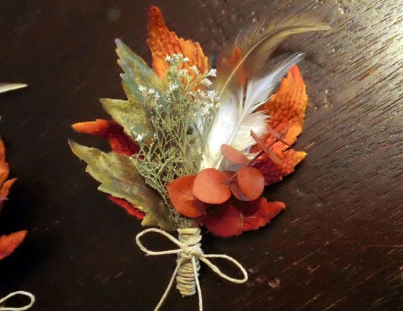 Autumn Splendor Wedding Boutonniere Corsage