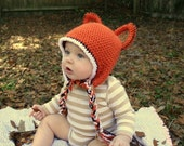 Smooth Criminal Fox Hat Crocheted Hat- you pick size- free shipping