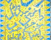 Islamic Arts,  a plea to God, Islamic Calligraphy, 11x17 inch Art