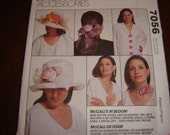 McCalls Fashion Accessory Pattern with Instructions to Make Flowers, Buds and Leaves