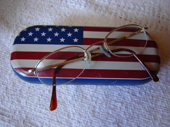 Red, White and Blue Fossil Glasses Case