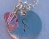 Austrian Crystal Cancer Awareness/Survivor Necklace - 18-inch