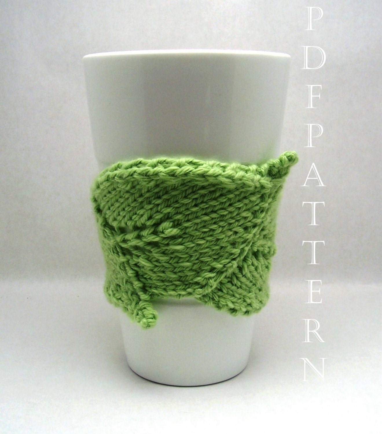Knitted Leaf Pattern : Leaf Cuddler PDF Knitting Pattern