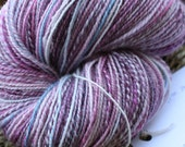 "Handspun Wool Yarn ""Pretty Pansies"""