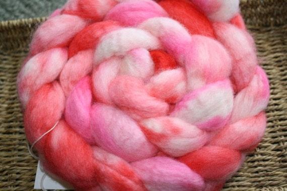 I'm Blushing - Hand dyed BFL Wool Fiber