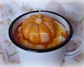 20oz Pumpkin Nog Enamelware Mug Candle