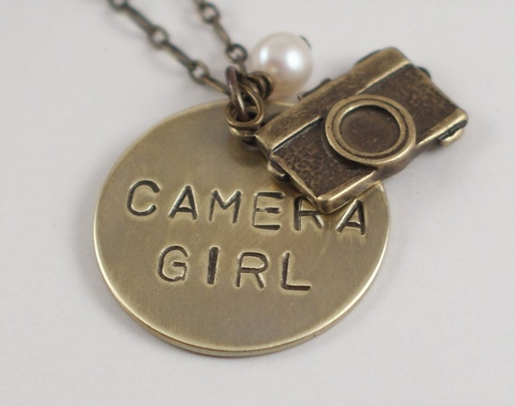 Camera Girl - A Hand Stamped Necklace