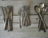 Rustic Antique Silverplate Silverware