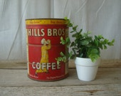 Vintage Red Hills Bros Can