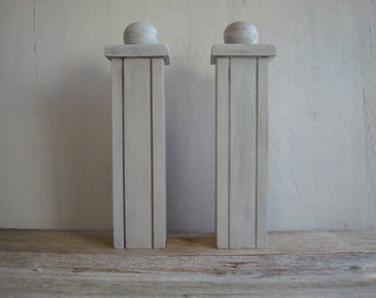 Wooden Architectural Pieces // Bookends // Wood Salvage // Upcycle // Farmhouse // Nautical // Fixer Upper