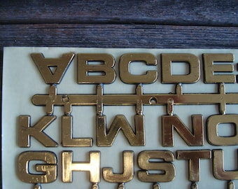 Vintage Peel and Stick Letters, in Gold