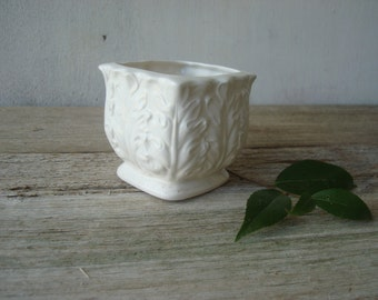 Dainty White Vintage Planter, Made in Japan