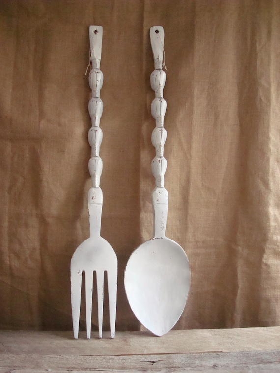 Oversized Fork And Spoon Wall Art