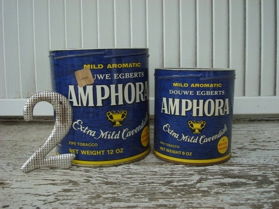 VINTAGE Tobacco Canisters, Set of 2
