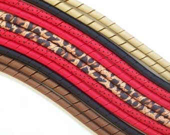 12yds--Wild Leopard---Brown-Red-Black---Korker Ribbon
