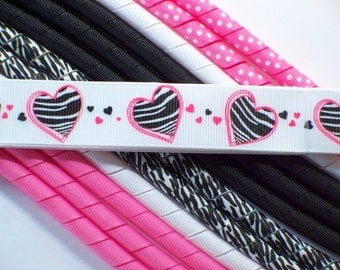 Korker Ribbon Set--3/8 inch 12 yards--7/8 inch 2 yards--Love My Zebra
