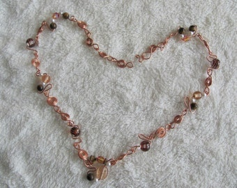 Pearls and Copper Swirles