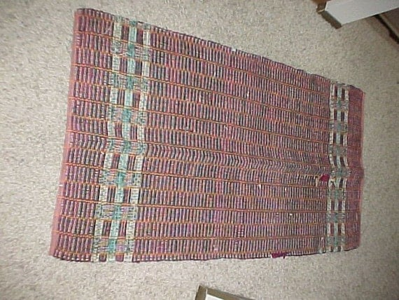 Private Listing for Christine Brodhagen - Used Red Rag Rug 51x28