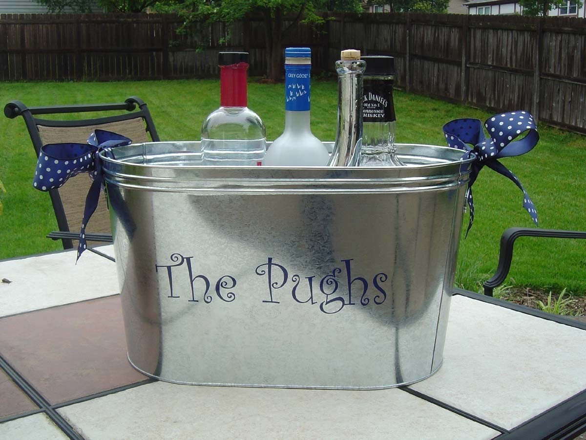 Sale Personalized Ice Bucket Party Tub Housewarming By