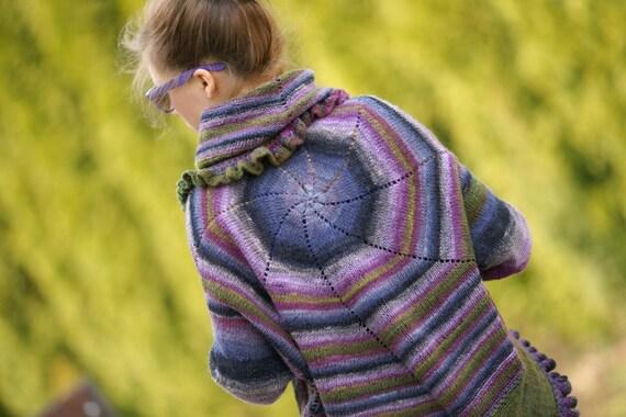 Rainbow Noro sweater circle multicolor